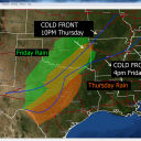 DFW: Cold front stalls across north Texas Thursday, brings rain Thursday and Friday