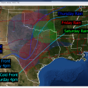 DFW: Cold front now expected to bring rain Thursday, Friday, & Saturday